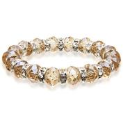 Alexander Kalifano BLUE-BGG-21 Gorgeous Glass Bracelets - Topaz