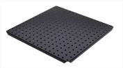 Alligator Board ALGSTRP16x16PTD-BLK Black Powder Coated Metal Pegboard Panels with Flange - Pack of 2