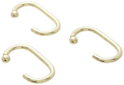 Carnation Home Fashions SLM-C/64 C Type Brass Heavy Weight Metal Shower Curtain Hooks - Set of 12