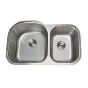 Ruvati RVM4600 Undermount 16 Gauge 86.4cm . Kitchen Sink Double Bowl