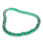 Alexander Kalifano WHITE-NGG-N25 Gorgeous Glass Necklaces - Emerald