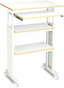 Safco Muv Adjustable Stand-Up Workstation, 90cm - 120cm H x 70cm W x 60cm D, Grey/Grey