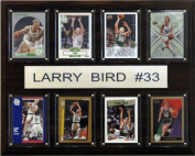 C & I Collectables 1215BIRD8C NBA Larry Bird Boston Celtics 8 Card Plaque