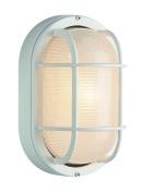 Trans Globe Lighting 41005 WH 22cm 1-Light Medium Outdoor Bulkhead, White