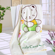 Blancho Bedding XY-BLK001-33.5by45.3 Little Bear Coro Polar Fleece BabyThrow Blanket
