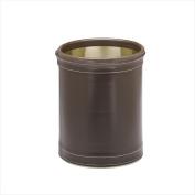 Kraftware 68848 Stitched Chocolate 25.4cm Round Waste Basket