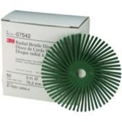 3M 7542 7.6cm Scotch-Brite Radial Bristle Discs 50 grade Coarse Green