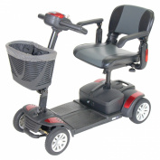 """Spitfire EX 1420 Travel Mobility Scooter - 16"""" Folding Seat, 12AH Batteries"""