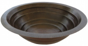 Novatto TCU-006AN MATAMORAS Round Tiered Copper Bath Sink with Antigua Finish 17-Inch Width