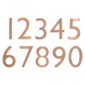 Architectural Mailboxes 3585AC-9 Solid Cast Brass 5 in. Antique Copper Floating House Number 9