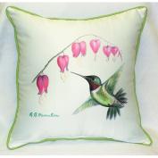 Betsy Drake HJ030 Hummingbird Art Only Pillow 18x18