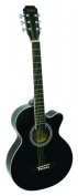 Main Street 100cm Acoustic Guitar with High-Gloss Black Finish