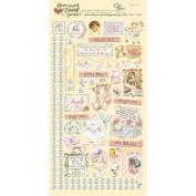 Heartwarming Vintage Cardstock Stickers 15cm x 30cm Sheet-Baby Girl