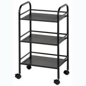 Blue Hills Studio SH3BK 3-Shelf Storage Cart - Black
