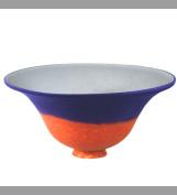 Meyda Tiffany 11191 25.4cm W Orange/Blue Pate-De-Verre Bell Shade