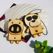 Blancho Bedding C032-PIPA Wooden Animals-6 - Cell Phone Charm Strap - Camera Charm Strap - Handbags Charms