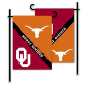 BSI PRODUCTS 83934 2-Sided Garden Flag - Rivalry House Divided - Oklahoma - Texas