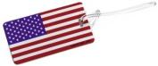 Lewis N Clark ID24 Plastic American Flag Luggage Tag