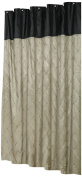 Carnation Home Fashions Diamond Patterned Embroidered Shower Curtain, 180cm by 180cm , Brown and Black