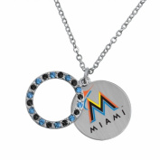 Game Time Group 101593 MLB Miami Marlins Disc Necklace
