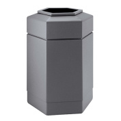 DCI Marketing 737103 113.6l Hex Waste Container - Grey