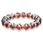 Alexander Kalifano BLUE-BGG-11 Gorgeous Glass Bracelet -Tourmaline