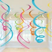 Amscan 201914 Plastic Swirl Decorations