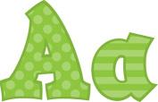 Frog Street Press FST5265 Green 13cm Sassy Font