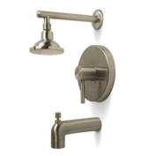 Quality Home Items 120094 1 Handle Tub and Shower Faucet in Brushed Nickel