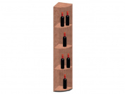 Vinotemp RACK-QR-PR Quarter Round Shelf Wine Rack