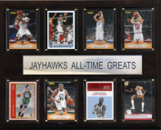 C & I Collectables 1215ATGKANB NCAA Basketball Kansas Jayhawks All-Time Greats Plaque