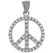 Doma Jewellery DJS03144 Sterling Silver (Rhodium Plated) Pendant with CZ