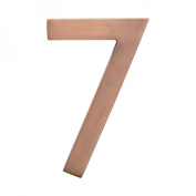 Architectural Mailboxes 3582AC Number 7 Solid Cast Brass 4 inch Floating House Number Antique Copper 7