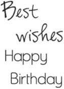 Kaisercraft Mini Clear Stamp - Wishes Words - sheet size 5.7cm x 7.5cm