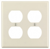 Leviton Mfg 000-78016-000 Light Almond 2 Gang Duplex Receptacle Wall Plate