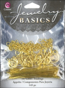 Cousin 479943 Jewellery Basics Metal Findings 145-Pkg-Gold Starter Pack