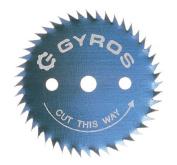 Gyros Precision Tools Inc 1-.63.5cm . Gyros Steel Ripsaw Blade 81-31222