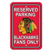 Fremont Die 80214 Chicago Blackhawks Plastic Parking Sign