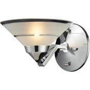Elk Lights 1470/1 1 Light Sconce In Polished Chrome And Etched Clear Glass