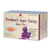 Health King Medicinal Teas 0417592 Presidents Super Energy Herb Tea - 20 Tea Bags