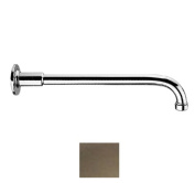 Whitehaus Collection WHSA350-1-BN 14 in. Showerhaus solid brass one-piece shower arm with decorative faux sleeve- Brushed Nickel
