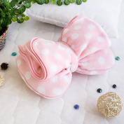 Blancho Bedding TB-CB004-29.5by35.4 Pink Bow Fleece Throw Blanket Pillow Cushion / Travel Pillow Blanket
