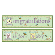 Beistle 57898 B Is for Baby Banners