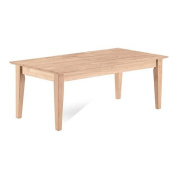International Concepts Living Room Tables Shaker Coffee Table Unfinished OT-9TC