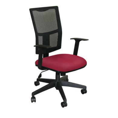 Marvel WMCTKFB-F6557 Task Mesh Chair with Raspberry Fabric and Black Base