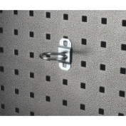 Triton Products 54110 1.63 In. Single Ring 1 In. I.D. Zinc Plated Steel Tool Holder for LocBoard 5 Pack