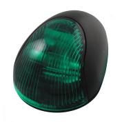 Attwood 2-Mile Vertical Mount, Green Sidelight - 12V - Black Plastic Housing