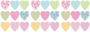 Fun4Walls Pretty Heart Stikarounds Repositionable Wall Stickers