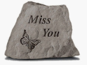 Kay Berry- Inc. 78620 Miss You - Butterfly Memorial - 3.5 Inches x 3 Inches