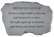 Kay Berry- Inc. 97520 Beloved Sister-If Tears Could Build A Stairway - Memorial - 16 Inches x 10.5 Inches x 1.5 Inches